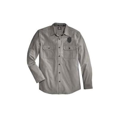 ハーレーダビッドソンカジュアルシャツ ウエア トップスHarley-Davidson メンズ Wrinkle-Resistant Textured 長袖 Shirt 96080-16VM