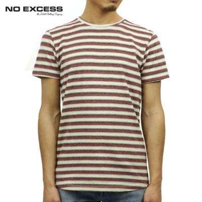 ノーエクセス Tシャツ 正規販売店 NO EXCESS 半袖Tシャツ クルーネック YARN DYED STRIPE TEE 350356 187 父の日 ギフト プレゼント
