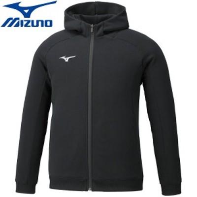 ◆◆ <ミズノ> MIZUNO スウェットシャツ( フルジップフーディー)(ユニセックス) 32MC0177 (09:ブラック) スポーツウェア
