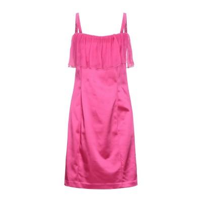 EAN 13 ミニワンピース&ドレス フューシャ 42 アセテート 48% / ナイロン 45% / ポリウレタン 7% / スワロフスキー ミニワ