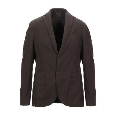 FAAG テーラードジャケット ダークブラウン 48 コットン 97% / ポリウレタン 3% テーラードジャケット