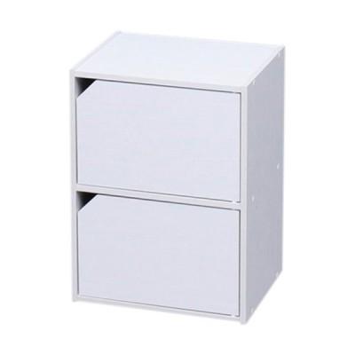 アイリスオーヤマ(IRISOHYAMA) モジュールボックス扉付 オフホワイト MDB-2D 新生活 生活雑貨 収納 小物入れ 棚