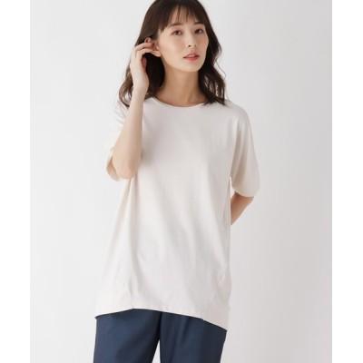 SHOO・LA・RUE / 【M-3L】スーピマコットン(綿)コクーンプルオーバー WOMEN トップス > Tシャツ/カットソー