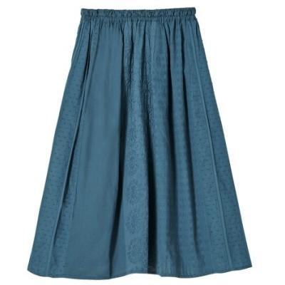 【大きいサイズ】 綿100%柄切替スカート(ペチスカート付)(オトナスマイル) スカート, plus size skirts