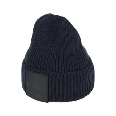 OUTHERE 帽子 ダークブルー one size ウール 54% / コットン 23% / アセテート 23% 帽子