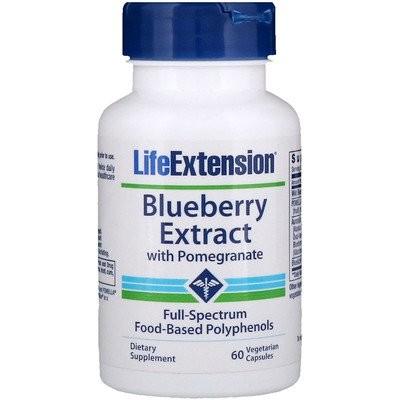 ザクロ入りブルーベリーエキス、植物性カプセル60粒