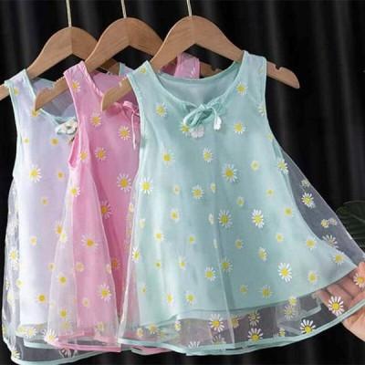 子供 の ドレス 新 夏 姫 ドレス の スカート の王女dres 少女 のメッシュ スカート ファッション 外国スタイル