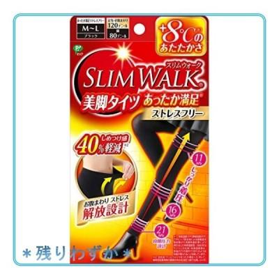 ピップ スリムウォーク (SLIM WALK) 美脚タイツ あったか満足 ストレスフリー MLサイズ ブラック おそと用 着圧
