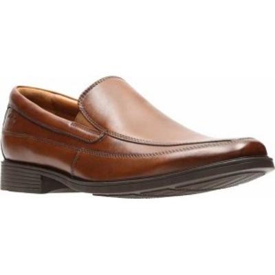 クラークス メンズ スリッポン・ローファー シューズ Men's Clarks Tilden Free Dark Tan Leather
