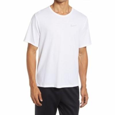 ナイキ NIKE メンズ ランニング・ウォーキング ドライフィット Tシャツ トップス Dri-FIT Miler Reflective Running T-Shirt White/Refle