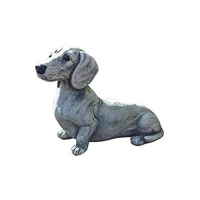 Caiyle Dog Statues for Yard and Garden, Dachshund Statue Garden Decor Memor