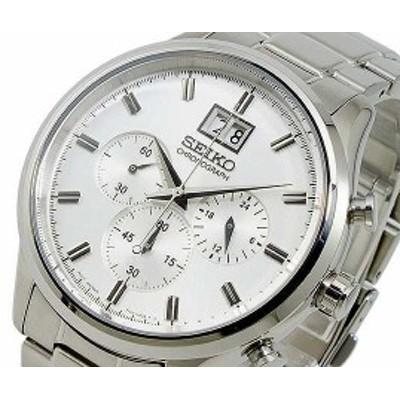 腕時計 メンズ セイコー SEIKO クロノグラフ SPC079P1 シルバー