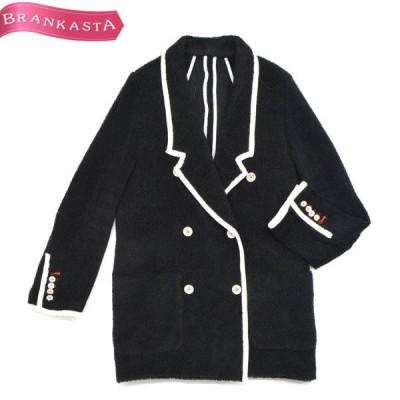 DOUBLE STANDARD CLOTHING ダブルスタンダードクロージング VAN パイル ダブルジャケット F 黒×白\最大80%OFF 緊急セール開催中/22nr98