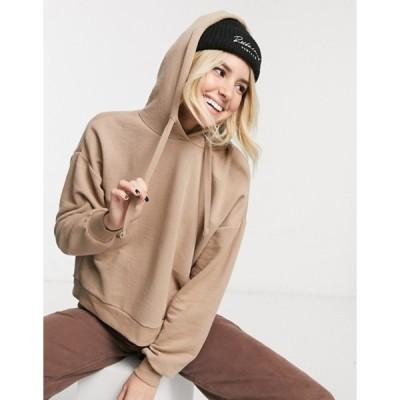 プルアンドベアー レディース パーカー・スウェット アウター Pull&Bear hoodie in light brown