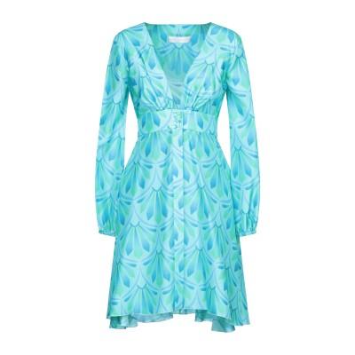 ジャーダ・ベニンカサ GIADA BENINCASA ミニワンピース&ドレス ターコイズブルー S シルク 100% ミニワンピース&ドレス