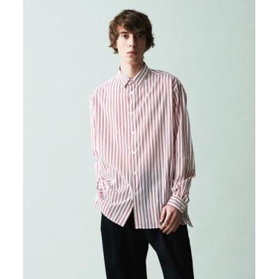 TOMORROWLAND/トゥモローランド ストライププリント レギュラーカラー ビッグシャツ 33 レッド系 F