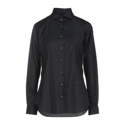 XACUS シャツ ブラック 46 コットン 96% / ポリウレタン 4% シャツ
