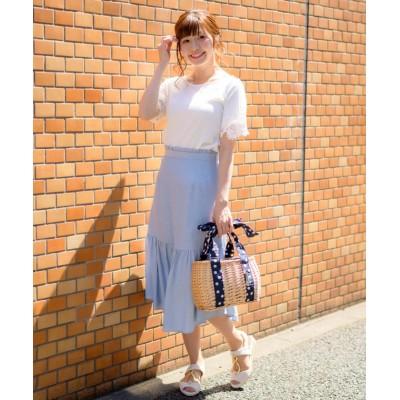 【ルゥデ】 マーメイドラインスカート(9R10−05097) レディース サックス S Rewde