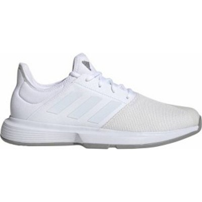アディダス メンズ スニーカー シューズ adidas Men's GameCourt Tennis Shoes White/Grey