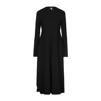 EUROPEAN CULTURE 7分丈ワンピース・ドレス ブラック XXS コットン 95% / ポリウレタン 5% 7分丈ワンピース・ドレス