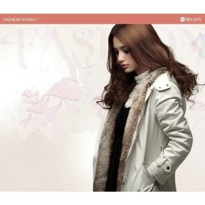 中綿ミリタリーコートロング丈コートモッズコート中綿モッズコートレディース無地ファーフード付き暖かい秋冬大きいサイズ
