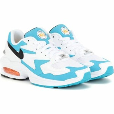 ナイキ Nike レディース スニーカー シューズ・靴 air max2 light sneakers White/Black/Blue Lagoon