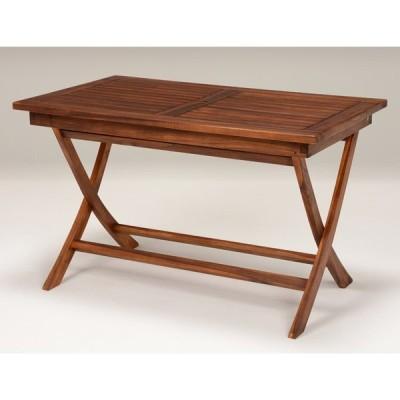 チークガーデン テーブル(長方形) / ガーデンファニチャー テーブル 庭 屋外 ベランダ デッキ パラソルスタンド
