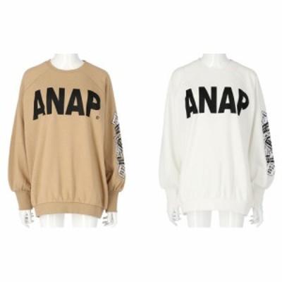 【30%OFF レディース 大人】 ANAP(アナップ) ANAPロゴステッカープリントスウェットトップス