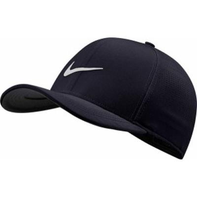 ナイキ メンズ 帽子 アクセサリー Nike Men's 2020 AeroBill Classic99 Perforated Golf Hat Obsidian/White