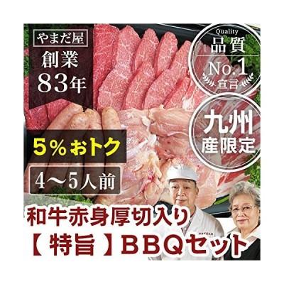九州産 黒毛和牛 銘柄豚 地鶏 焼肉特旨セット4?5人 / 赤身 豚肉 とり肉 はいからポーク 赤鶏さつま 通販 BBQ 焼き肉 高級 人気