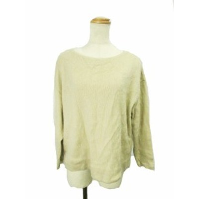 【中古】B&Y ユナイテッドアローズ セーター クルーネック ニット オーバーサイズ ウール混 長袖 茶色 /YK4 レディース