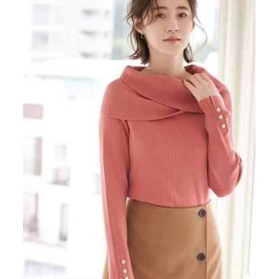 【ロペピクニック】 ゆるっとした襟が大人可愛い。クロスオフショルダートップス レディース ピンク 40 ROPE' PICNIC