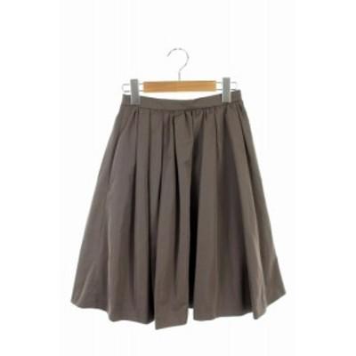 【中古】トッカ TOCCA 16AW スカート ギャザー フレア 膝丈 0 グレー /ES ■OS レディース