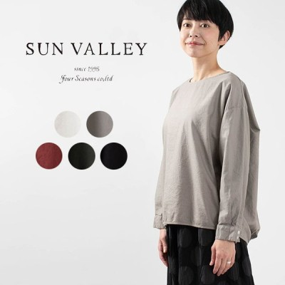 SUN VALLEY サンバレー オックス裾タックプルオーバー SK8002207 sunvalley ブラウス ナチュラルファッション ナチュラル服 40代 50代 大人コーデ シンプル