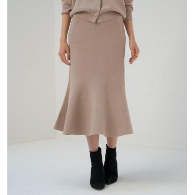 【ラウンジドレス/Loungedress】 ニットマーメイドスカート