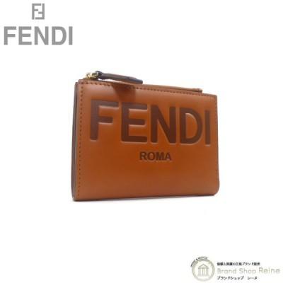 フェンディ(FENDI) ミディアム 二つ折り 財布 8M0447 ブラウン 新品