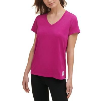 カルバンクライン レディース シャツ トップス Cotton V-Neck T-Shirt