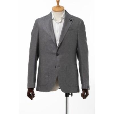 ラルディーニ LARDINI ジャケット シングル サイドベンツ ノッチドラペル 2つボタン グレー メンズ (EI0557AV RVR322) 送料無料 人気ブラ