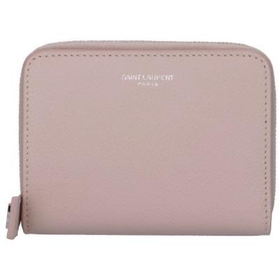 【訳あり】サンローラン パリ 二つ折り財布 レディース MARBLE PINK CUIR GRAINE 603081 B680N 6951