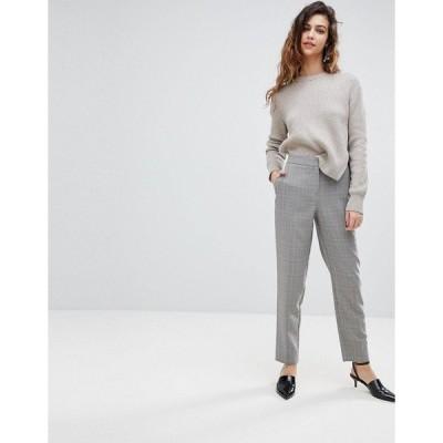ウエアハウス レディース カジュアルパンツ ボトムス Warehouse Heritage Check Slim Leg Pants Purple