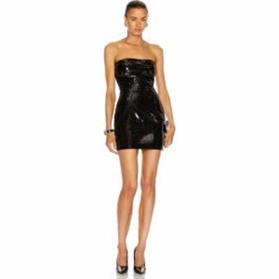 バルマン BALMAIN レディース ワンピース ビスチェ ワンピース・ドレス short sequined bustier dress Noir