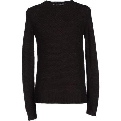 オビオスベーシック OBVIOUS BASIC メンズ ニット・セーター トップス sweater Dark brown