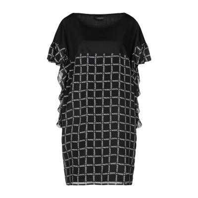 アトス ロンバルディーニ ATOS LOMBARDINI ミニワンピース&ドレス ブラック 40 レーヨン 70% / シルク 30% / コットン