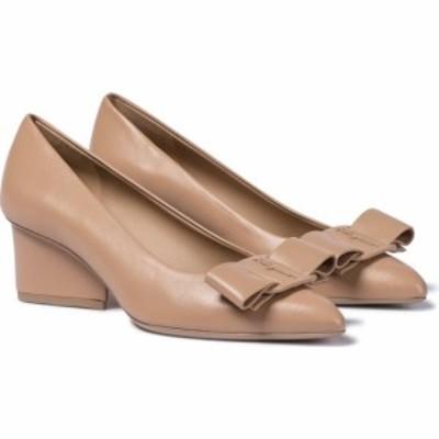 サルヴァトーレ フェラガモ Salvatore Ferragamo レディース パンプス シューズ・靴 viva 55 leather pumps Almond