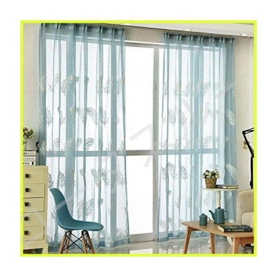 JGFJLO Feather Embroidery Sheer Curtain,Solid Color Living Room Curtain,White Yarn Bedroom Study Screen Draperies Yarn Curtain 1pcs-C 300x27