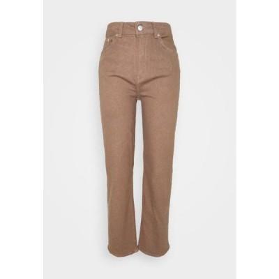 レディース スリム SLFMARY STRAIGHT PANTS - Slim fit jeans - pine bark