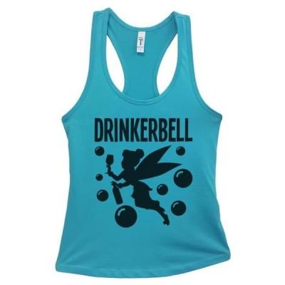 レディース 衣類 トップス Women's Basic Tank Top Drinkerbell Funny Tinkerbell Tank Top Gift- Funny Threadz Small Sky Blue