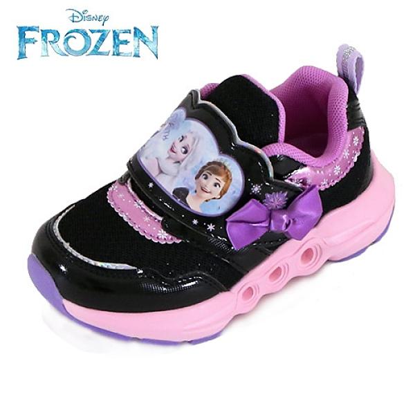 女童 04970 冰雪奇緣 FROZEN 艾沙安娜 鞋底閃燈透氣魔鬼氈 兒童運動鞋 電燈鞋 休閒鞋 59鞋廊