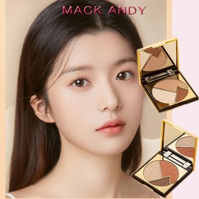 MACK ANDY新品上市 3色アイシャドウ ハイライト シェーディング 高光沢化粧  色持ち持続  光沢を高める  送料無料