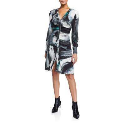 ダイアン フォン ファステンバーグ レディース ワンピース トップス Calico Printed Button-Down Dress